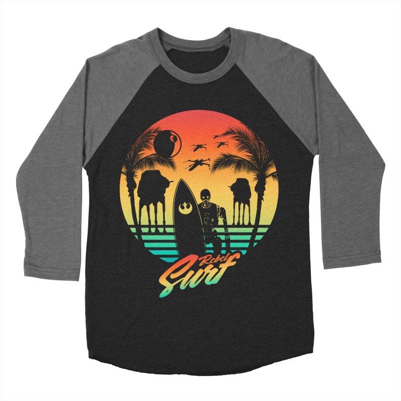 Rebel Surf Women's Baseball Triblend T-Shirt by mateusquandt's Artist Shop