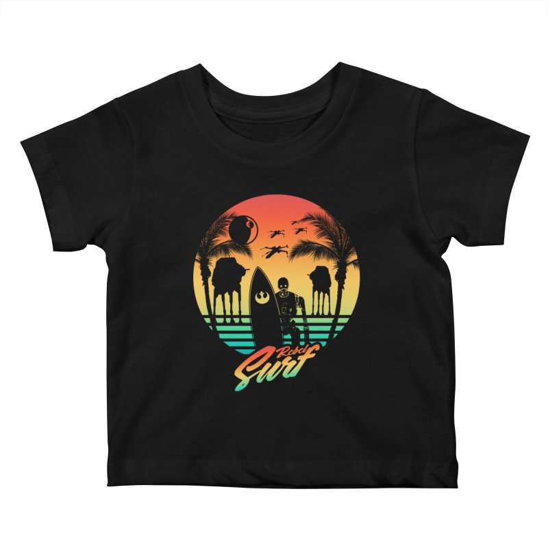 Rebel Surf Kids Baby T-Shirt by mateusquandt's Artist Shop