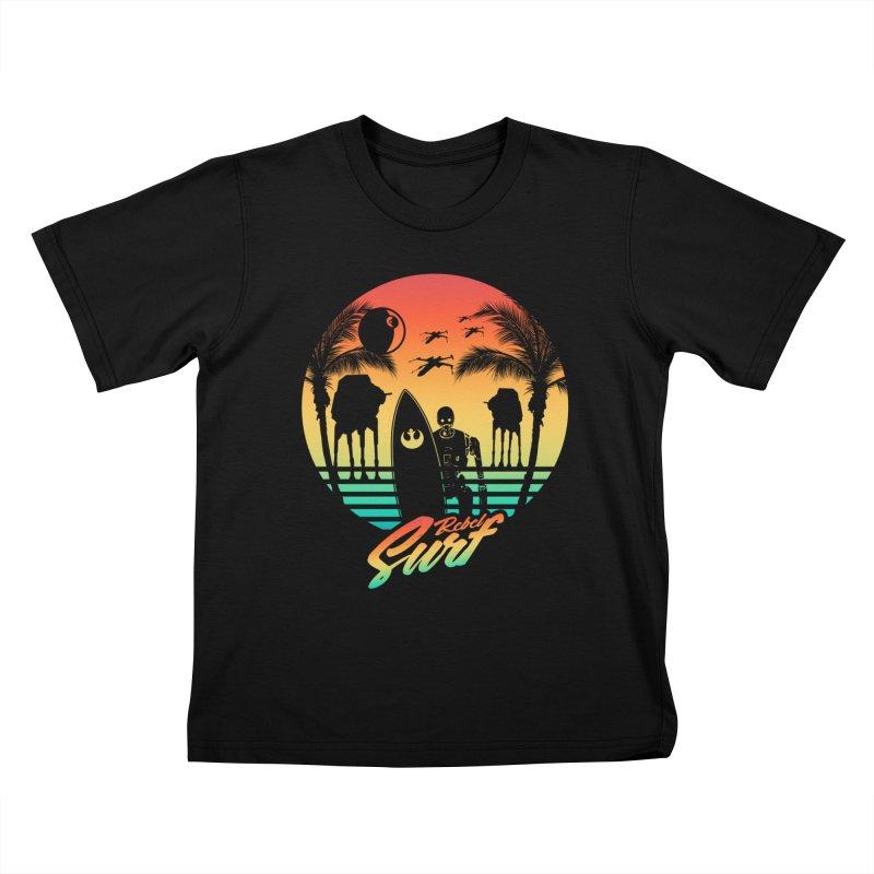 Rebel Surf Kids T-shirt by mateusquandt's Artist Shop