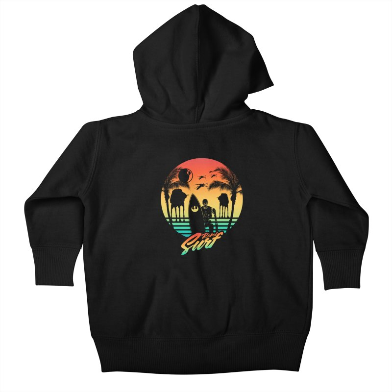 Rebel Surf Kids Baby Zip-Up Hoody by mateusquandt's Artist Shop