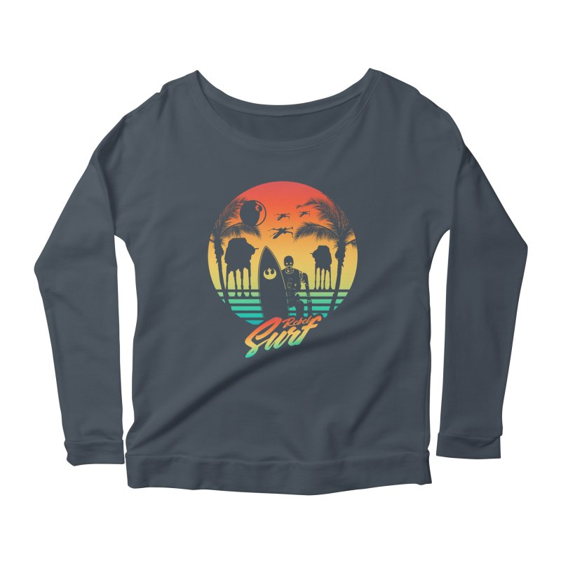 Rebel Surf Women's Longsleeve Scoopneck  by mateusquandt's Artist Shop