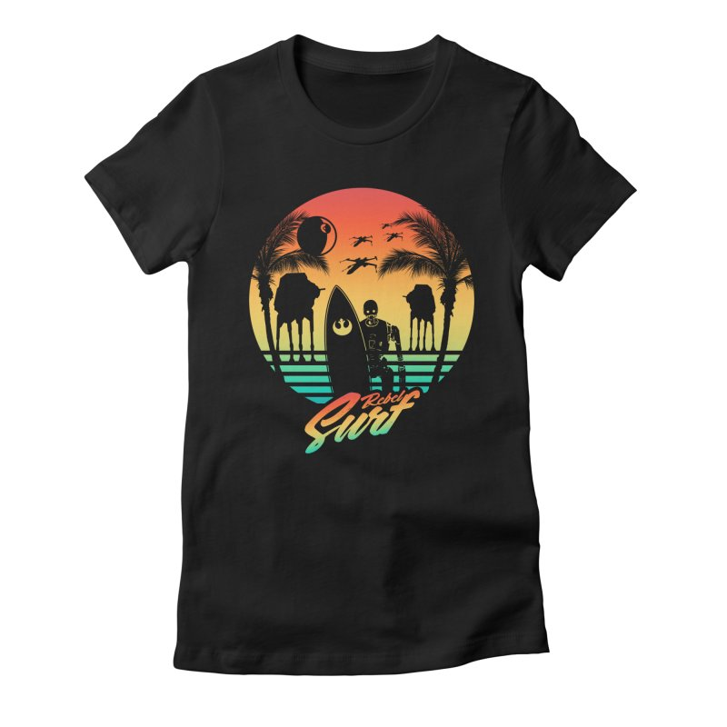 Rebel Surf Women's Fitted T-Shirt by mateusquandt's Artist Shop