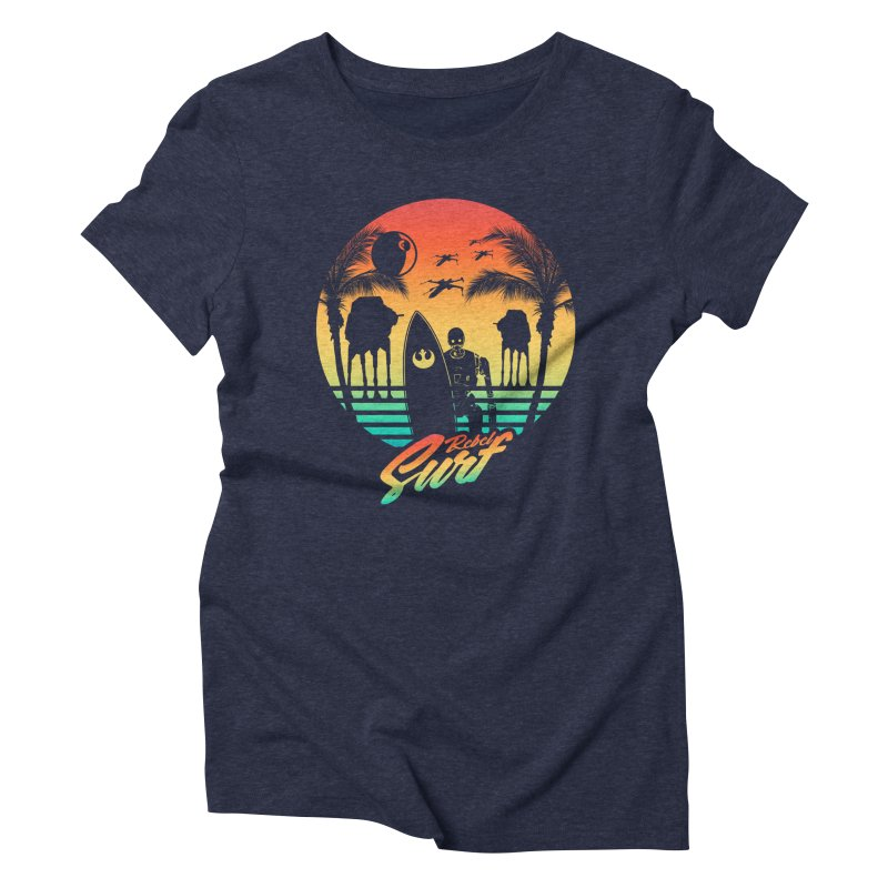 Rebel Surf Women's Triblend T-shirt by mateusquandt's Artist Shop
