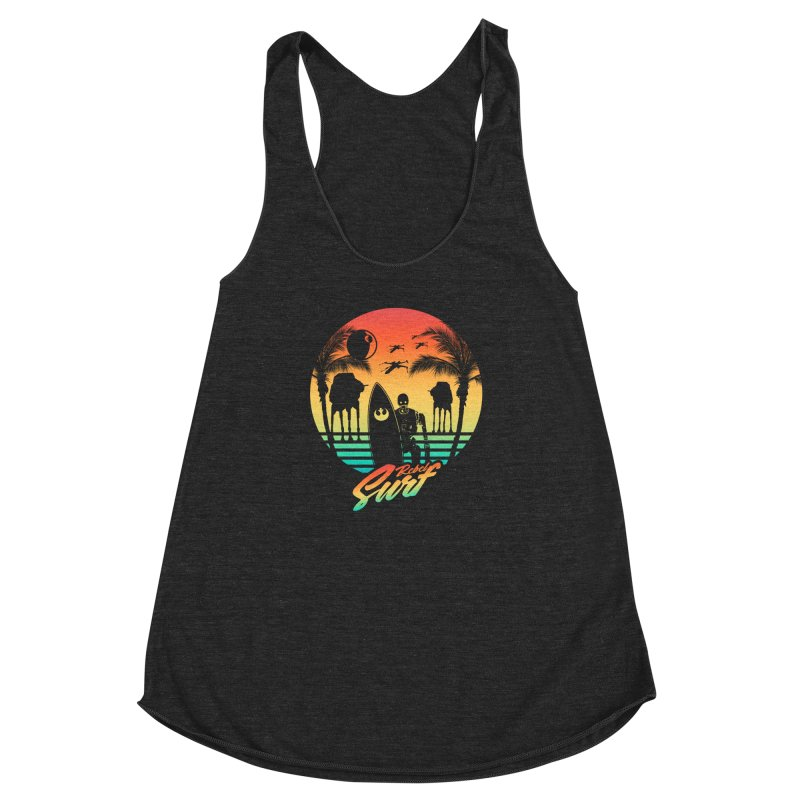 Rebel Surf Women's Racerback Triblend Tank by mateusquandt's Artist Shop