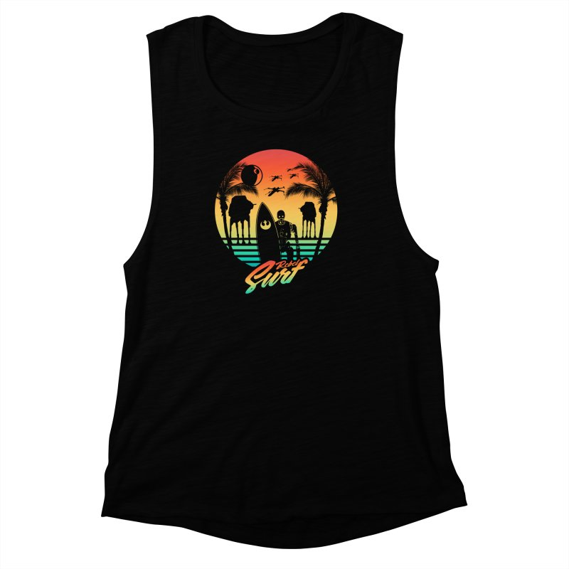 Rebel Surf Women's Muscle Tank by mateusquandt's Artist Shop