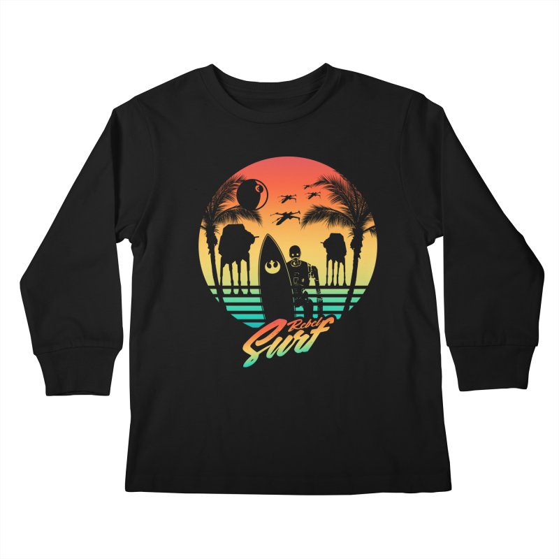 Rebel Surf Kids Longsleeve T-Shirt by mateusquandt's Artist Shop