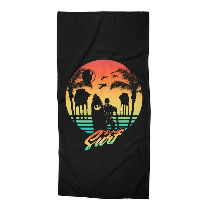 Rebel Surf Accessories Beach Towel by mateusquandt's Artist Shop