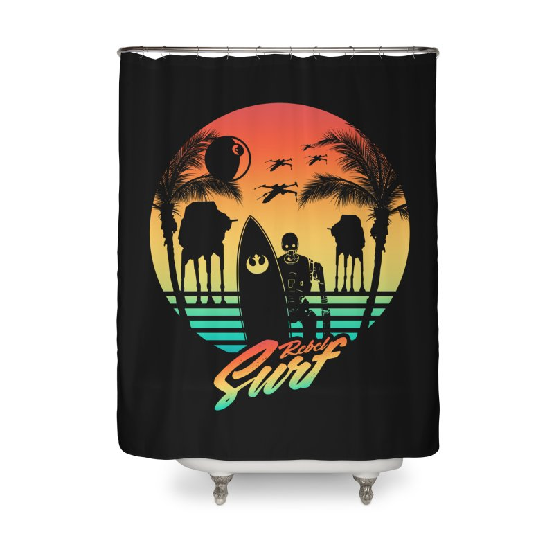 Rebel Surf Home Shower Curtain by mateusquandt's Artist Shop