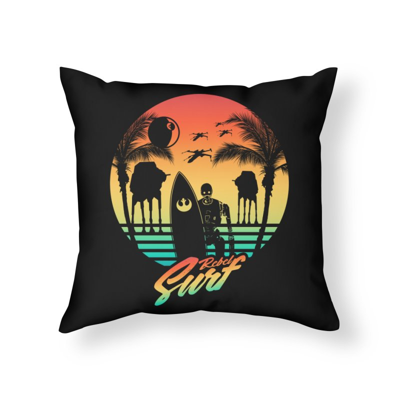 Rebel Surf Home Throw Pillow by mateusquandt's Artist Shop
