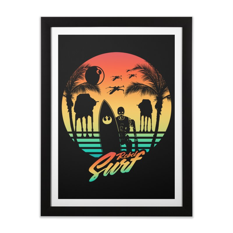Rebel Surf Home Framed Fine Art Print by mateusquandt's Artist Shop