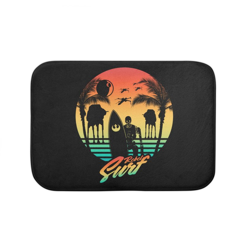 Rebel Surf Home Bath Mat by mateusquandt's Artist Shop