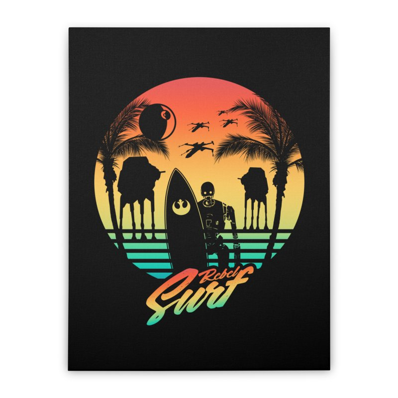 Rebel Surf Home Stretched Canvas by mateusquandt's Artist Shop