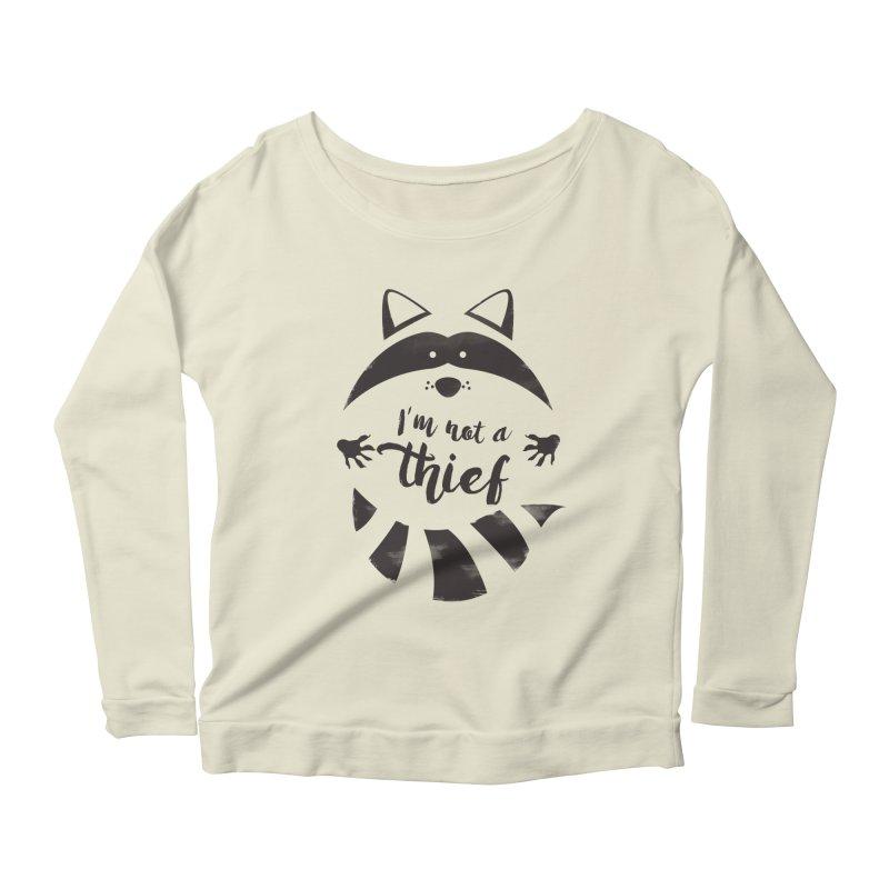 I'm not a thief Women's Longsleeve Scoopneck  by mateusquandt's Artist Shop