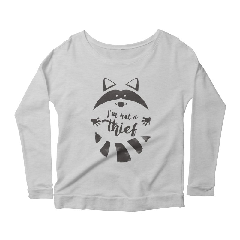 I'm not a thief Women's Longsleeve Scoopneck  by mateusquandt's Artist Shop