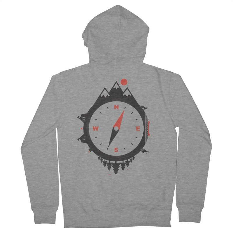 Adventure Compass Men's Zip-Up Hoody by mateusquandt's Artist Shop