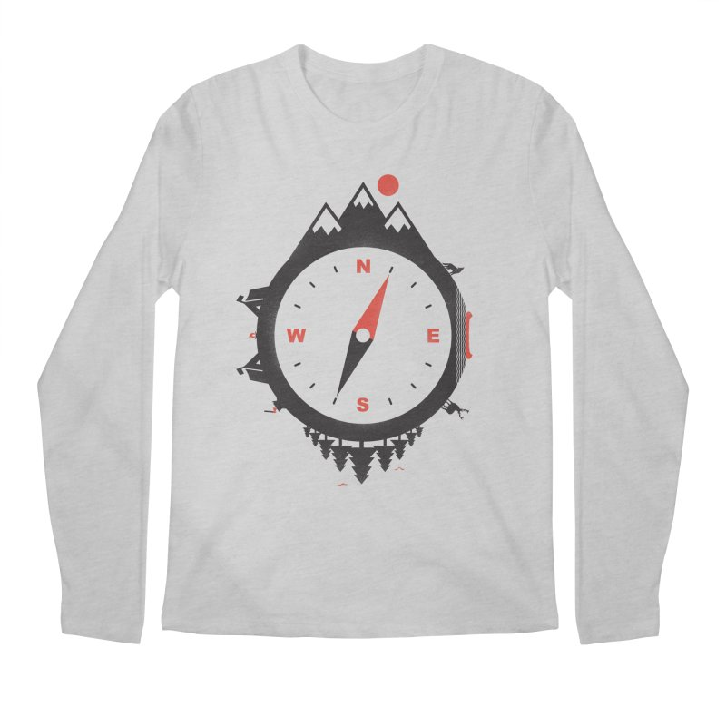 Adventure Compass Men's Longsleeve T-Shirt by mateusquandt's Artist Shop