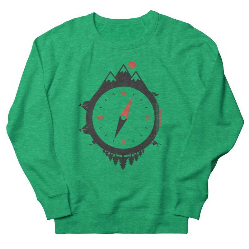 Adventure Compass Women's Sweatshirt by mateusquandt's Artist Shop