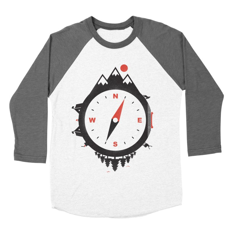 Adventure Compass Men's Baseball Triblend T-Shirt by mateusquandt's Artist Shop