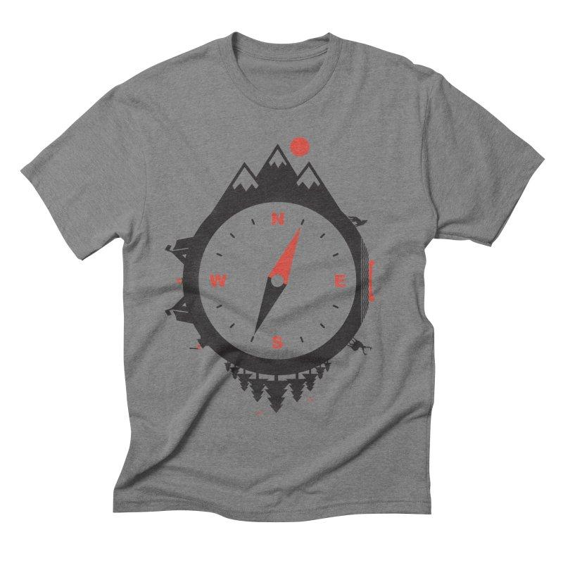 Adventure Compass Men's Triblend T-shirt by mateusquandt's Artist Shop