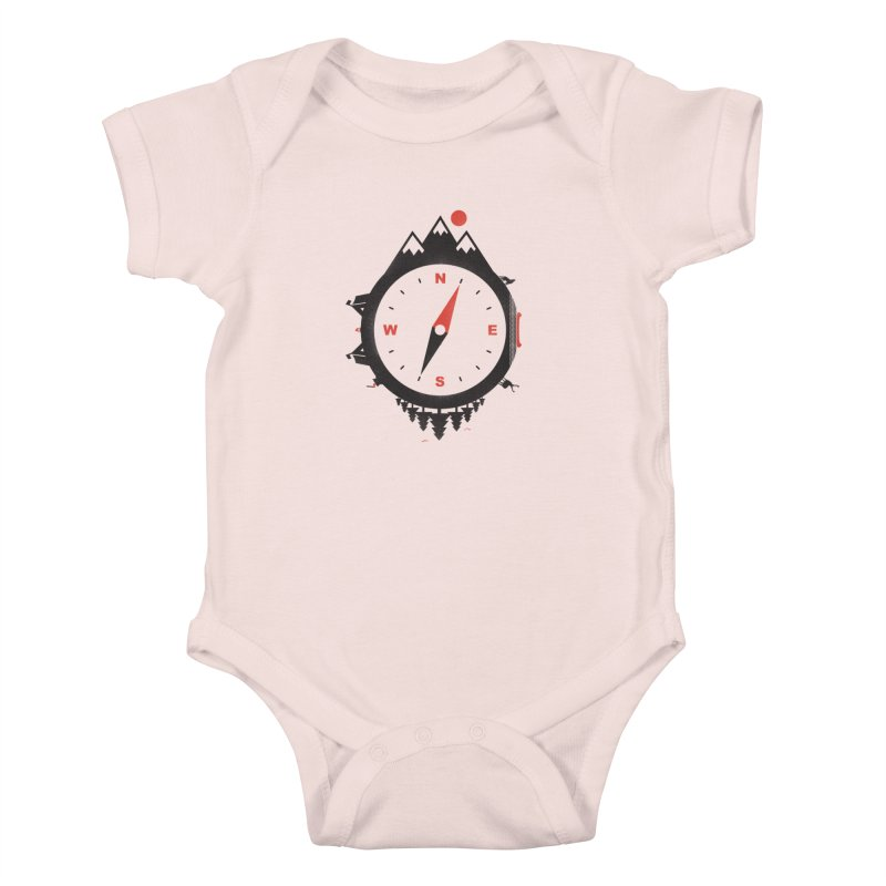 Adventure Compass Kids Baby Bodysuit by mateusquandt's Artist Shop