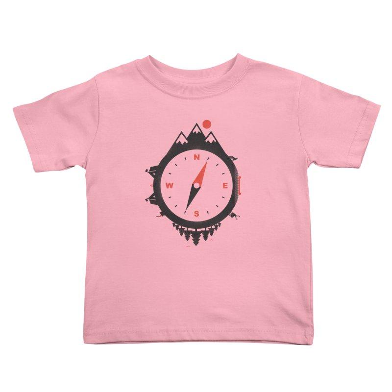 Adventure Compass Kids Toddler T-Shirt by mateusquandt's Artist Shop
