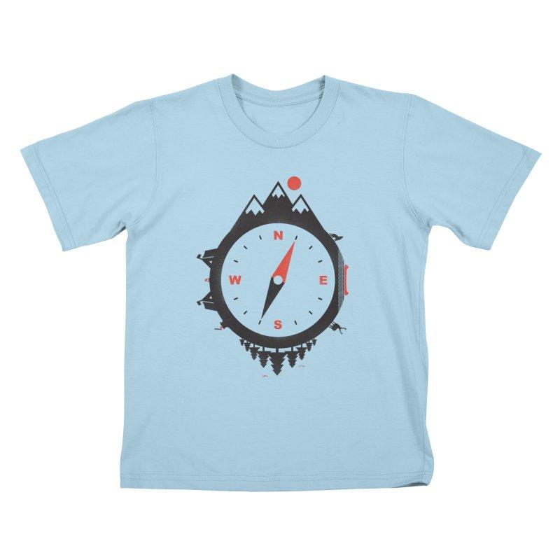 Adventure Compass Kids T-shirt by mateusquandt's Artist Shop