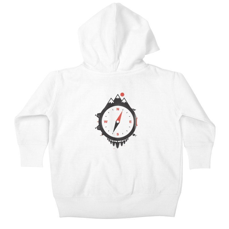Adventure Compass Kids Baby Zip-Up Hoody by mateusquandt's Artist Shop
