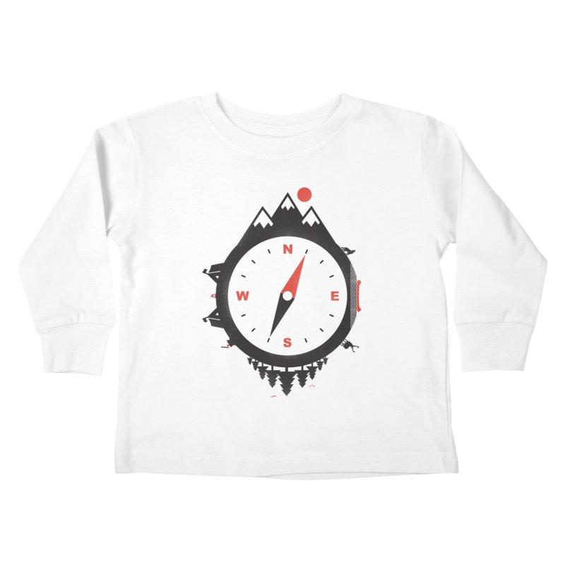 Adventure Compass Kids Toddler Longsleeve T-Shirt by mateusquandt's Artist Shop