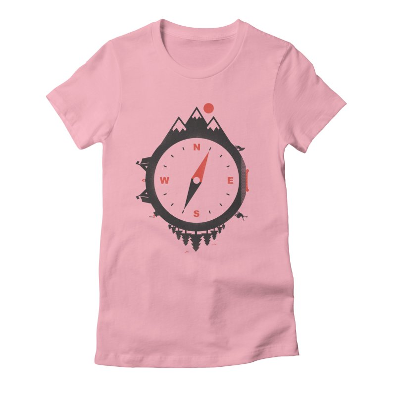 Adventure Compass Women's Fitted T-Shirt by mateusquandt's Artist Shop