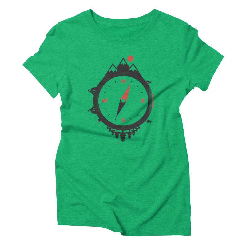 Adventure Compass Women's Triblend T-shirt by mateusquandt's Artist Shop