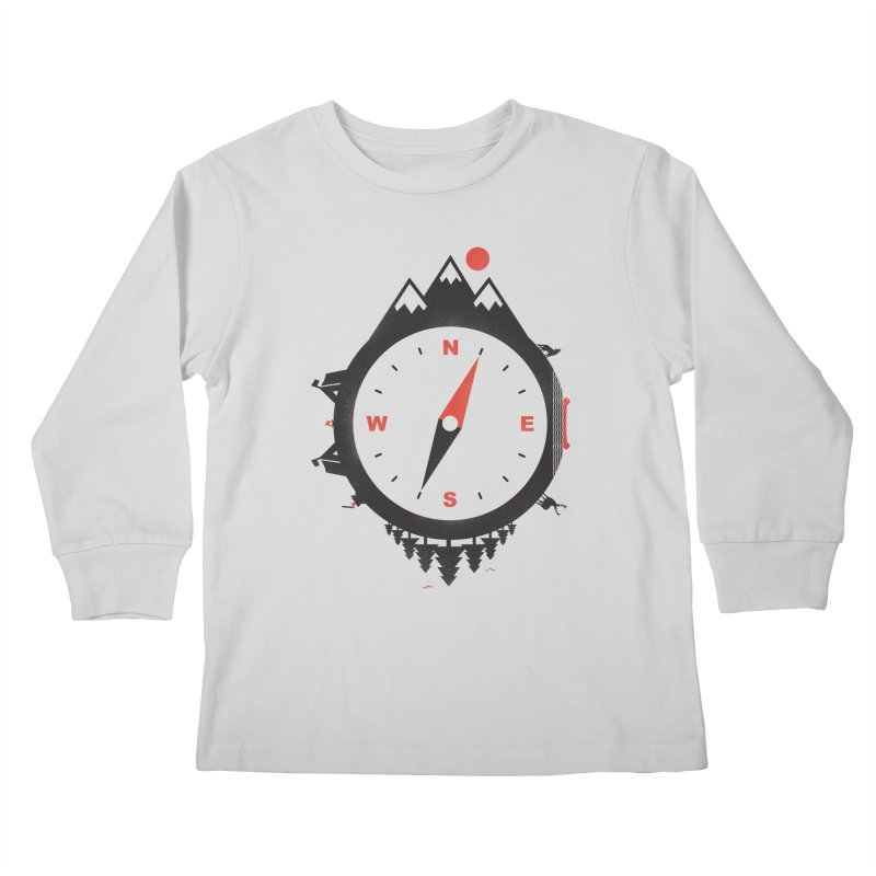 Adventure Compass Kids Longsleeve T-Shirt by mateusquandt's Artist Shop