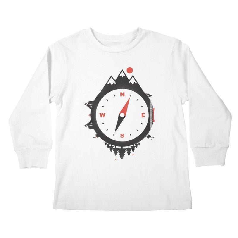 Adventure Compass Kids Longsleeve T-Shirt by mateusquandt's Artist Shop