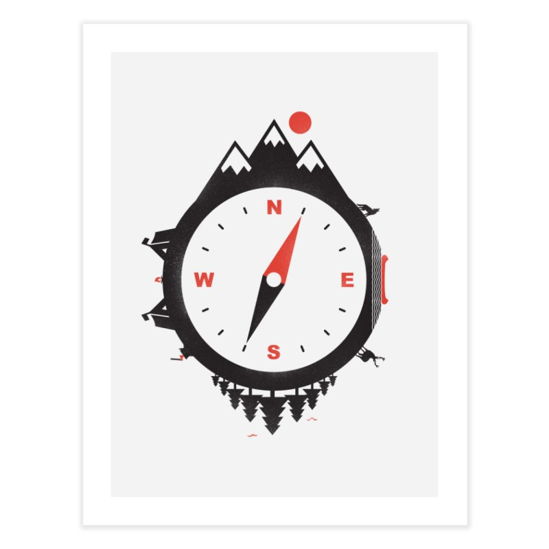 Adventure Compass Home Fine Art Print by mateusquandt's Artist Shop