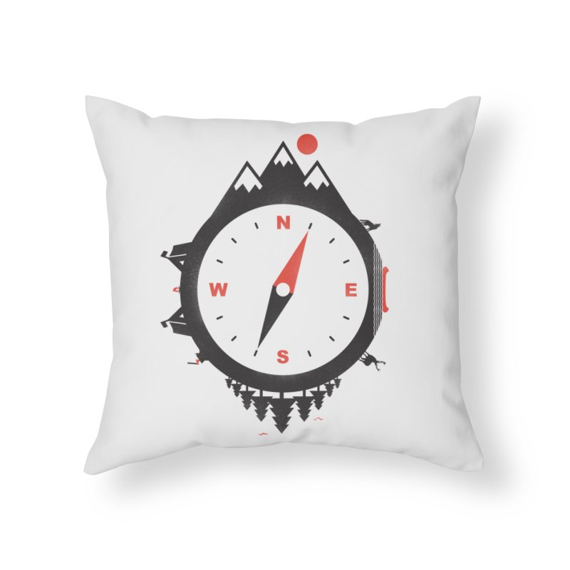 Adventure Compass Home Throw Pillow by mateusquandt's Artist Shop