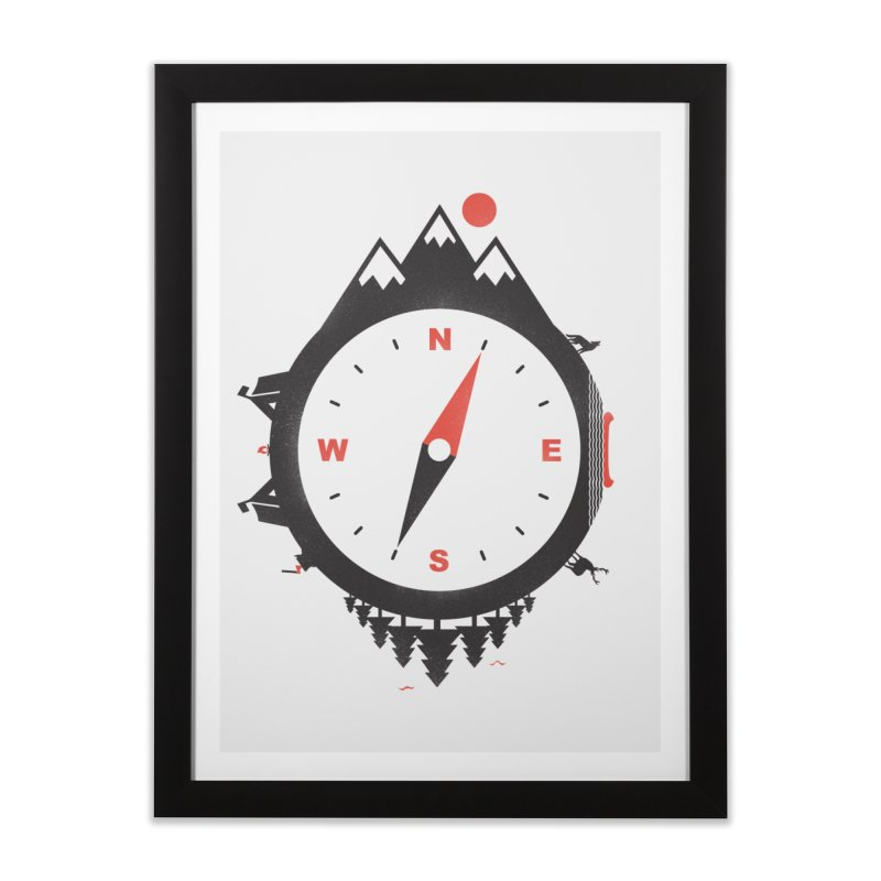 Adventure Compass Home Framed Fine Art Print by mateusquandt's Artist Shop