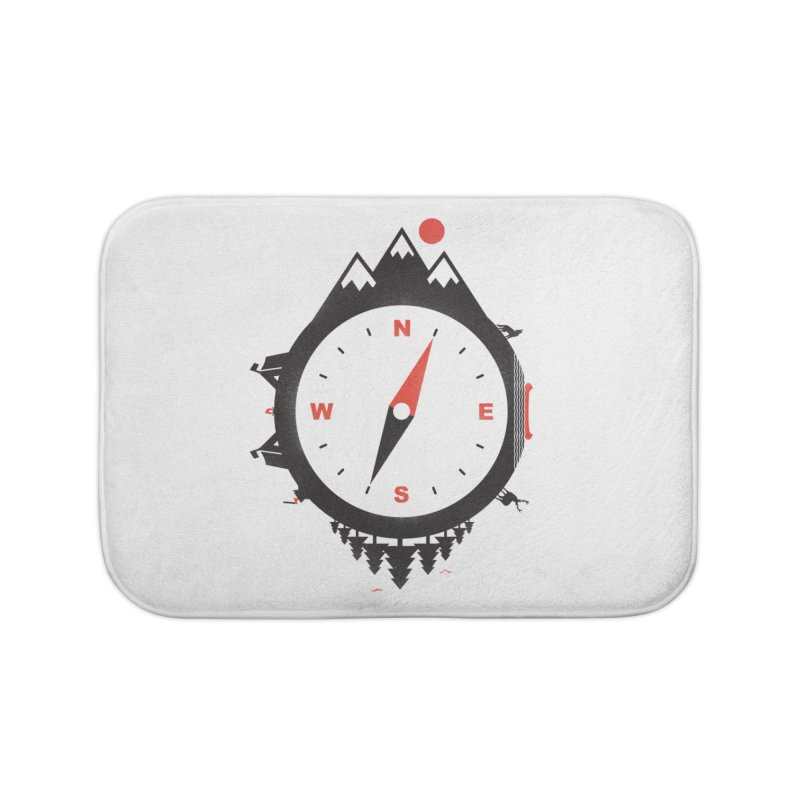Adventure Compass Home Bath Mat by mateusquandt's Artist Shop