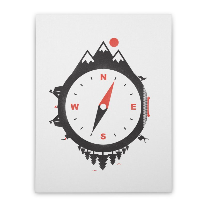 Adventure Compass Home Stretched Canvas by mateusquandt's Artist Shop