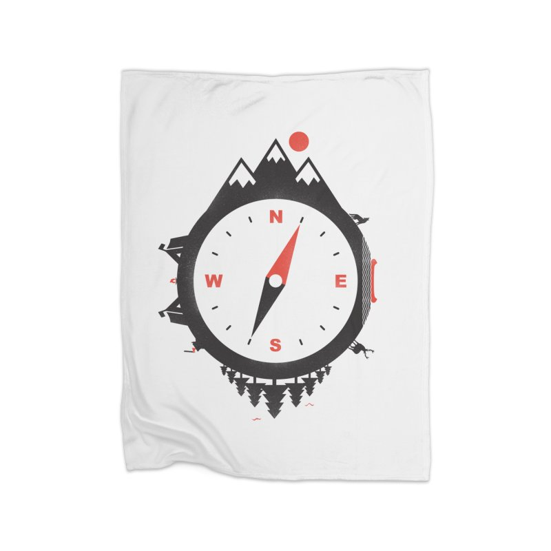 Adventure Compass Home Blanket by mateusquandt's Artist Shop