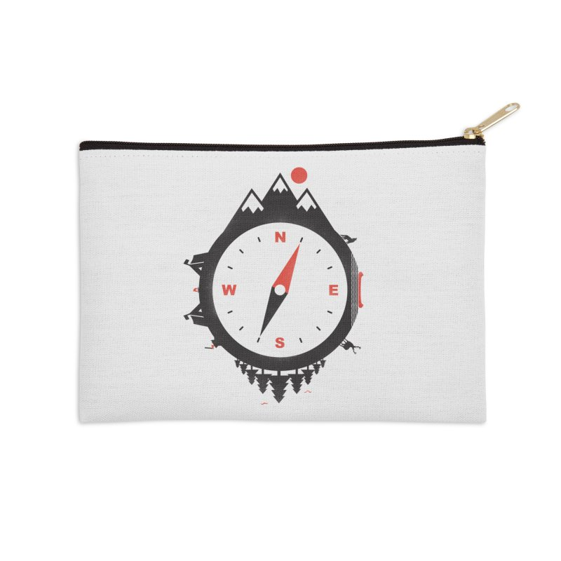 Adventure Compass Accessories Zip Pouch by mateusquandt's Artist Shop
