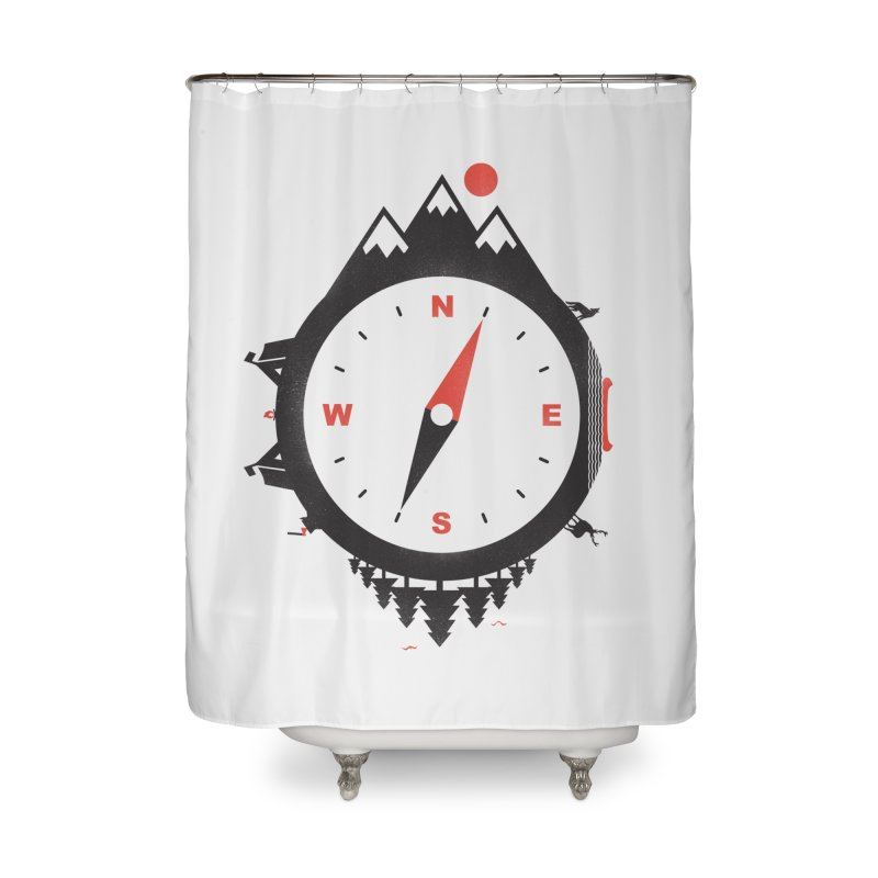 Adventure Compass Home Shower Curtain by mateusquandt's Artist Shop