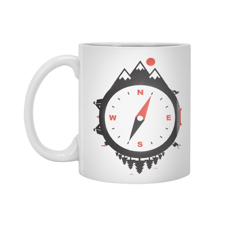Adventure Compass Accessories Mug by mateusquandt's Artist Shop