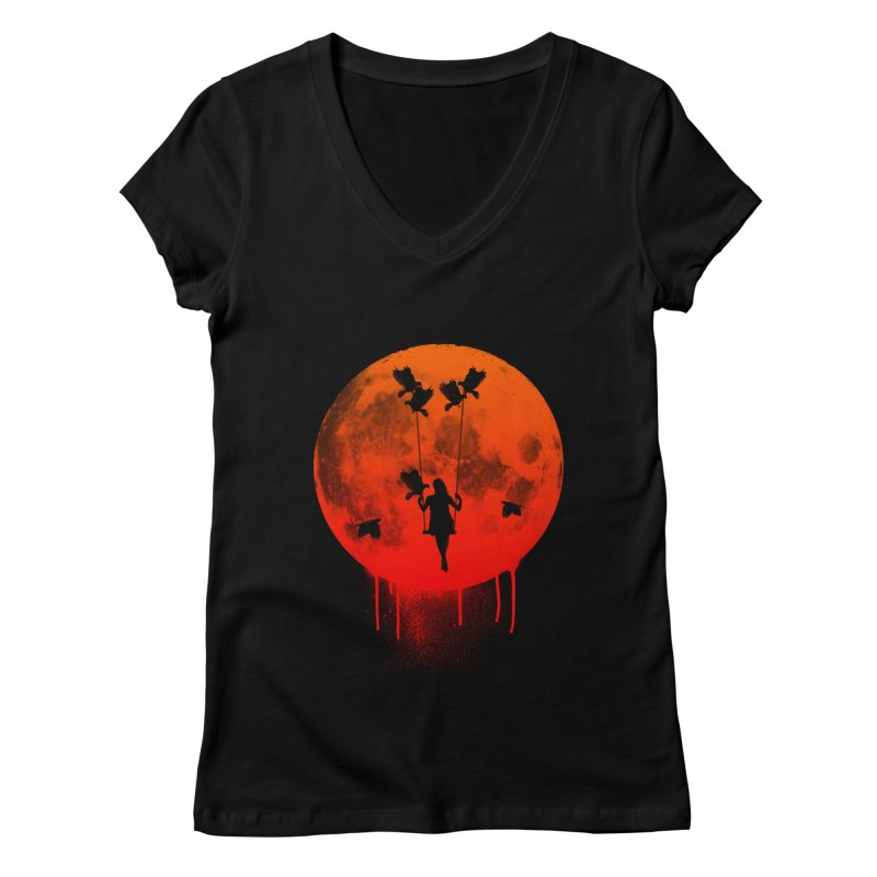 The mother of the birds Women's V-Neck by mateusquandt's Artist Shop