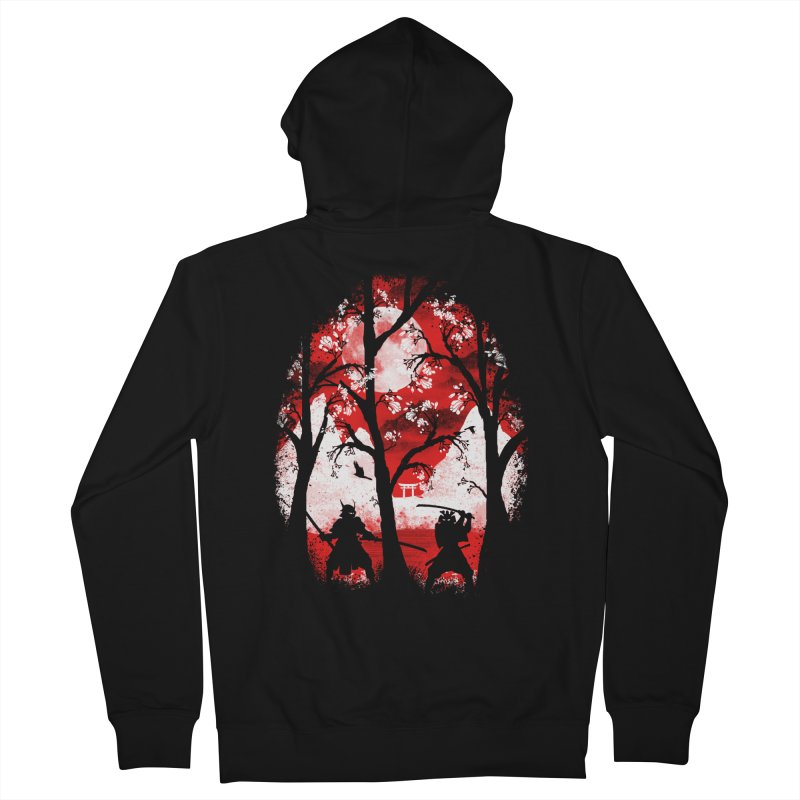 Samurai Battle Men's Zip-Up Hoody by mateusquandt's Artist Shop