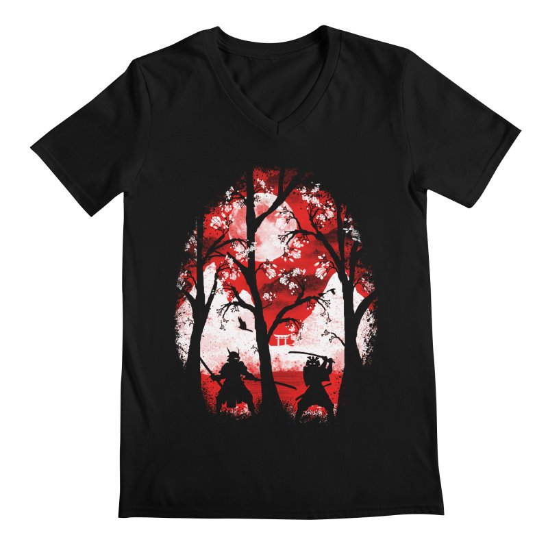 Samurai Battle Men's V-Neck by mateusquandt's Artist Shop