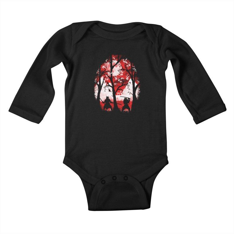 Samurai Battle Kids Baby Longsleeve Bodysuit by mateusquandt's Artist Shop