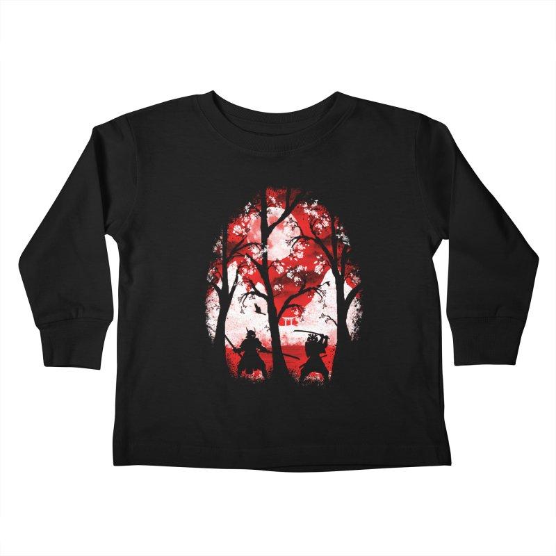 Samurai Battle Kids Toddler Longsleeve T-Shirt by mateusquandt's Artist Shop