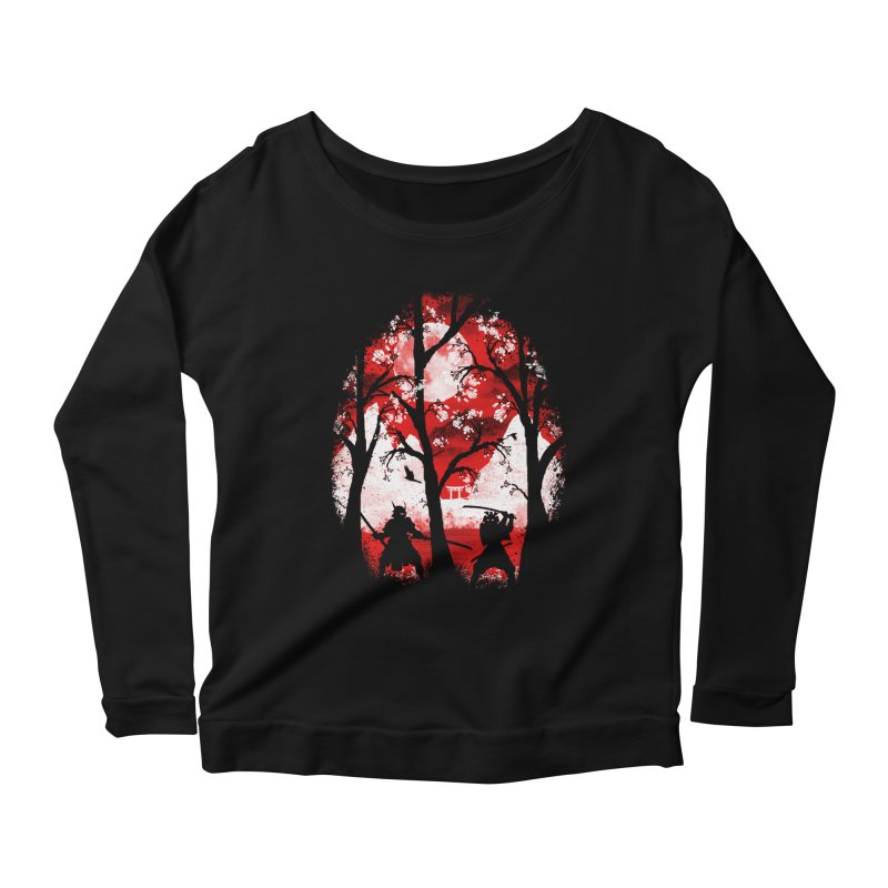 Samurai Battle Women's Longsleeve Scoopneck  by mateusquandt's Artist Shop