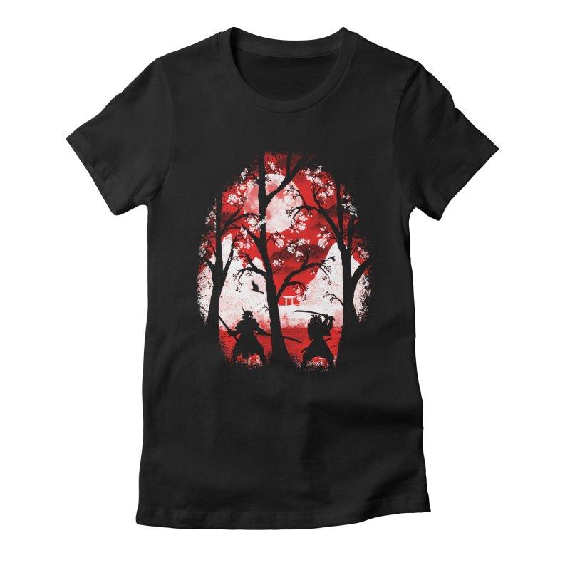 Samurai Battle Women's Fitted T-Shirt by mateusquandt's Artist Shop