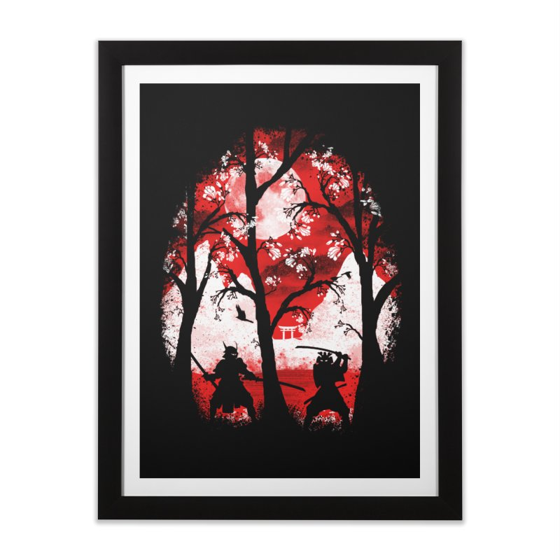 Samurai Battle Home Framed Fine Art Print by mateusquandt's Artist Shop