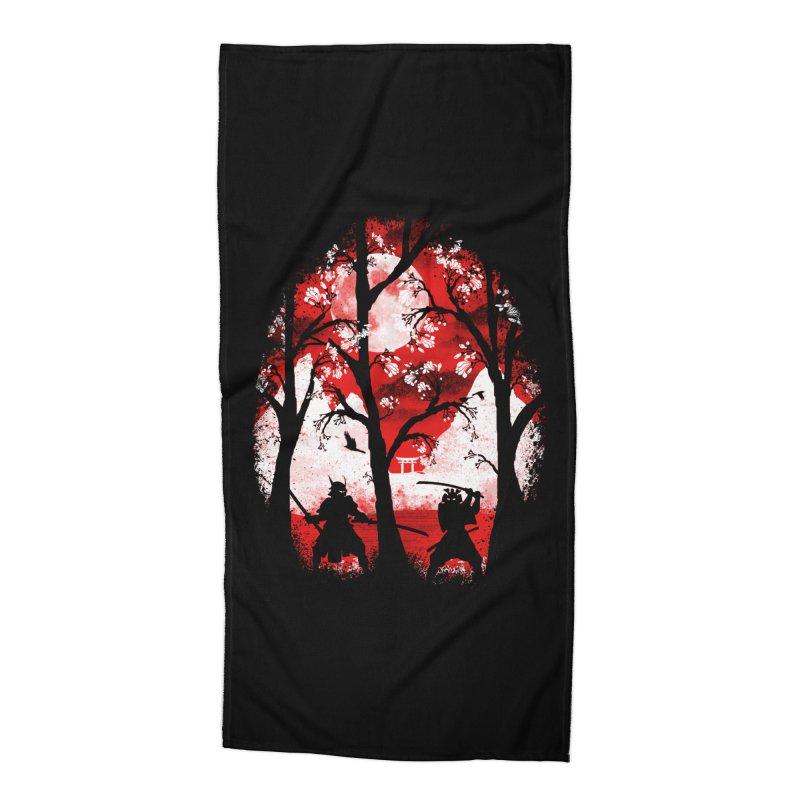 Samurai Battle Accessories Beach Towel by mateusquandt's Artist Shop